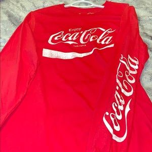 Coca-cola shirt has been worn once size SMALL